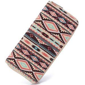 Handbags - Boho Aztec Pattern Zip Wallet